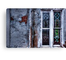 Rustic Church Windows Canvas Print