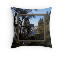 awesome ruby beach, wa (2x square) Throw Pillow