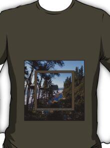 awesome ruby beach, wa (2x square) T-Shirt