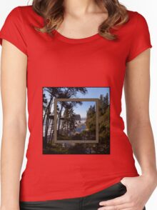 awesome ruby beach, wa (2x square) Women's Fitted Scoop T-Shirt