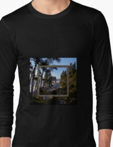 awesome ruby beach, wa (2x square) Long Sleeve T-Shirt