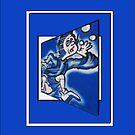 blue boy runnin' vertical (frame) by dedmanshootn