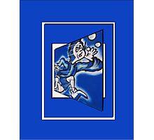 blue boy runnin' vertical (frame) Photographic Print