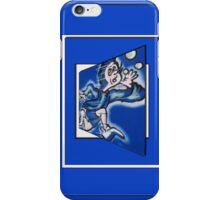 blue boy runnin' vertical (frame) iPhone Case/Skin