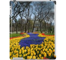 tulip flowers park iPad Case/Skin