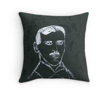 Portrait of Nikola Tesla Throw Pillow