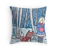 The Snow Child Throw Pillow