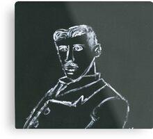 Portrait of Nikola Tesla Metal Print