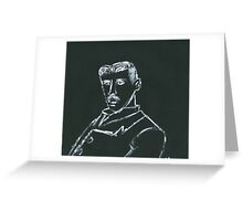 Portrait of Nikola Tesla Greeting Card