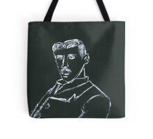 Portrait of Nikola Tesla Tote Bag