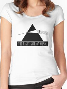 The Right Side Of Music Women's Fitted Scoop T-Shirt