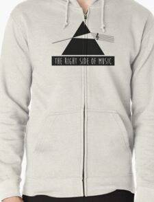 The Right Side Of Music Zipped Hoodie
