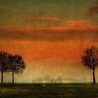 Sunset over the country by Roberto Pagani