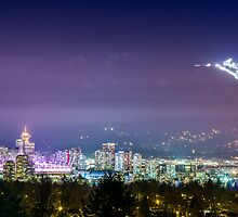Vancouver at night by Nordic-Photo