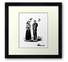 Nikola Tesla and Lady Framed Print