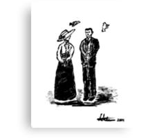 Nikola Tesla and Lady Canvas Print