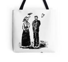 Nikola Tesla and Lady Tote Bag