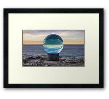 Sphere Sculpture Framed Print
