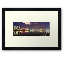 False Creek at Night Framed Print