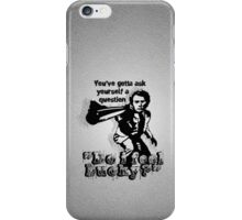 """Do i feel Lucky?"" -Clint Eastwood (Dirty Harry) [white] iPhone Case/Skin"