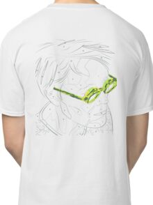 Adults Colouring in Glasses Print Classic T-Shirt