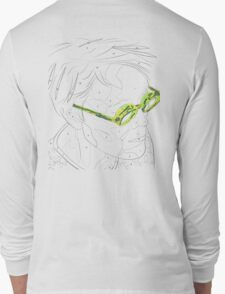 Adults Colouring in Glasses Print Long Sleeve T-Shirt