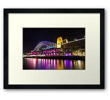 Sydney Harbour Bridge at Vivid Framed Print