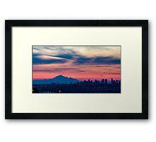after sunset Framed Print