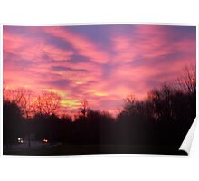 Sunrise in Columbia, MD Poster
