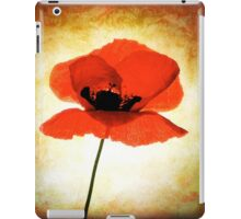 poppy flower iPad Case/Skin
