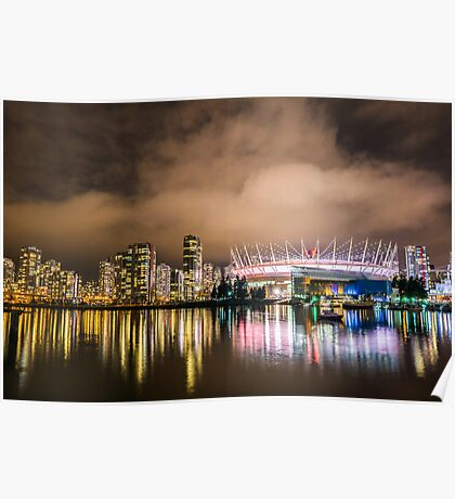 False Creek at Night Poster