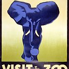 Visit the Zoo, Elephant by Vintagee