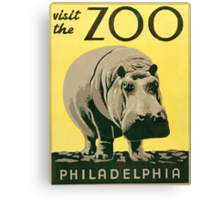Visit the Zoo, Hippo Canvas Print