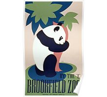 Panda and Bamboo, Brookfield Zoo Poster