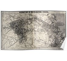 Civil War Maps 2146 Military map of Richmond and vicinity Poster