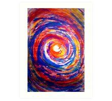 Colourful Whirl Art Print
