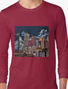 -♂ ♀ ∞ ☆ ★ New York New York - Las Vegas--Throw Pillow & VARIOUS APPAREL..♂ ♀ ∞ ☆ ★ Long Sleeve T-Shirt
