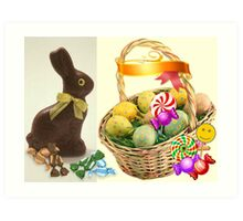 Easter Basket of SWEETS Art Print