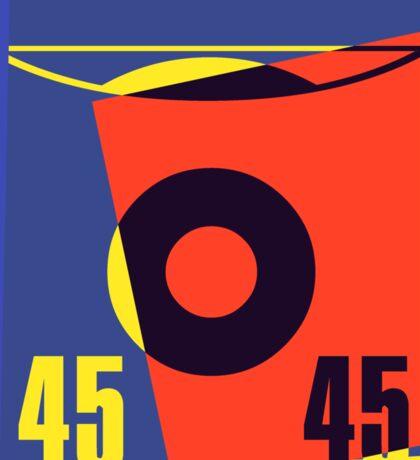 Pop Art 45 Vinyl Record Sticker