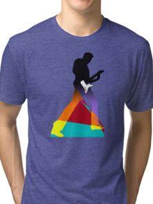 Pop Art Guitar Rocker Tri-blend T-Shirt