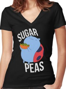 Catbug -- Sugar Peas!! Women's Fitted V-Neck T-Shirt