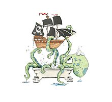 Kraken in the Tub Photographic Print