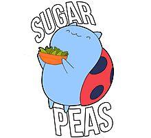 Catbug -- Sugar Peas!! Photographic Print