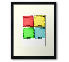 Colored Ink Gameboys Framed Print