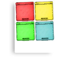 Colored Ink Gameboys Canvas Print
