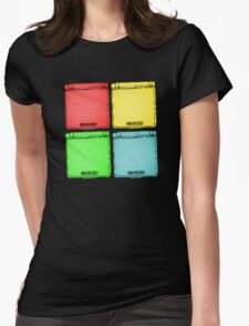 Colored Ink Gameboys Womens Fitted T-Shirt