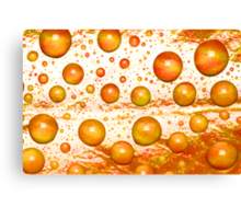 Redleaf Water Droplets Canvas Print