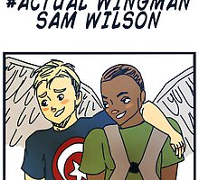 Actual Wingman, Sam Wilson by awkwardunclekim