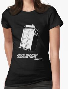 Mr. Who Womens Fitted T-Shirt
