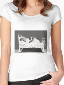 Harry Whittier Frees - The Insomniac Puppy Women's Fitted Scoop T-Shirt
